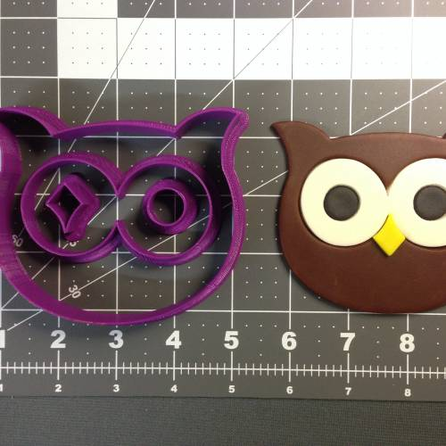 Owl Face Cookie Cutter Set