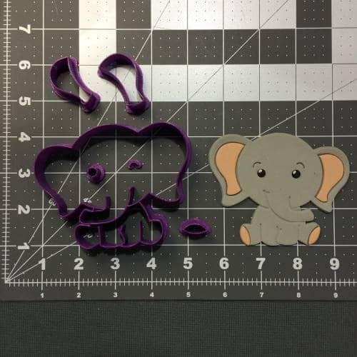 Baby Elephant 266-B898 Cookie Cutter Set