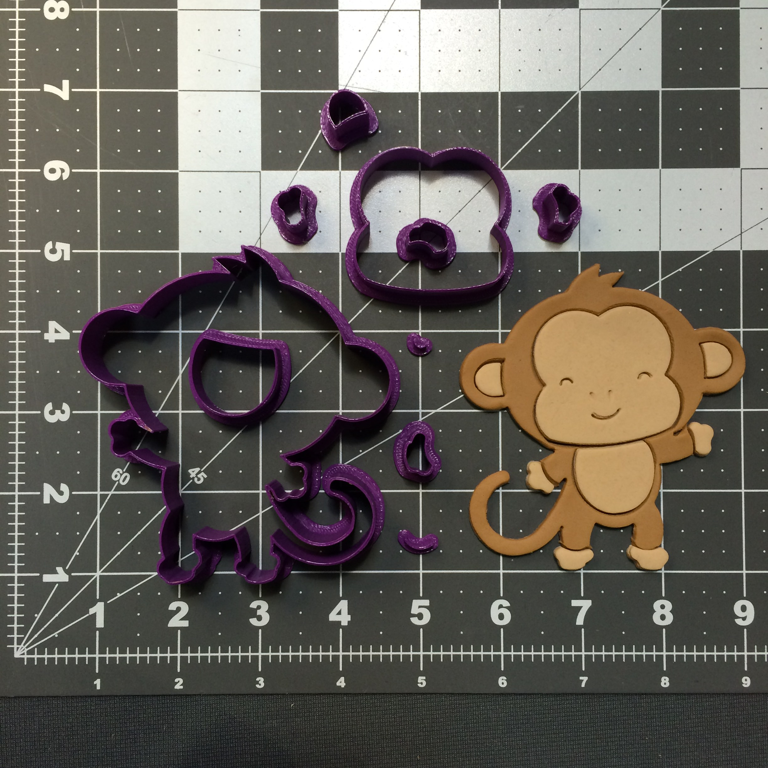 Baby Monkey 101 Cookie Cutter Set