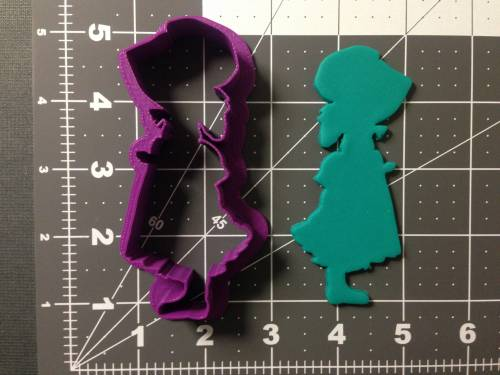 Girl with Bonnet Silhouette Cookie Cutter