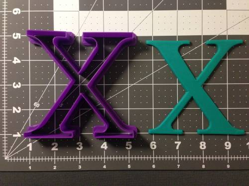Greek Letter Chi Cookie Cutter