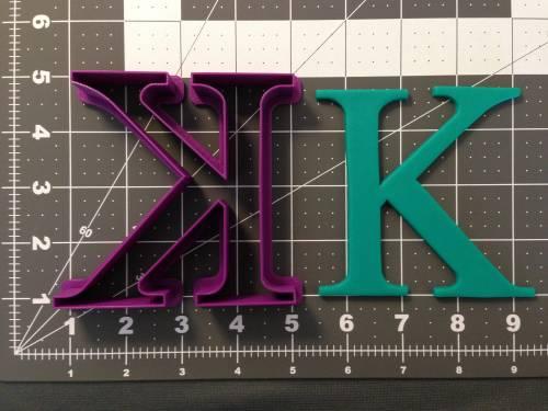Greek Letter Kappa Cookie Cutter