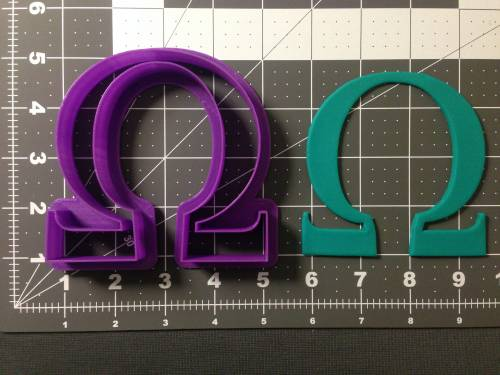 Greek Letter Omega Cookie Cutter