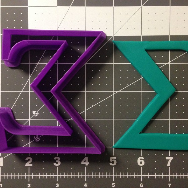 Greek Letter Sigma Cookie Cutter