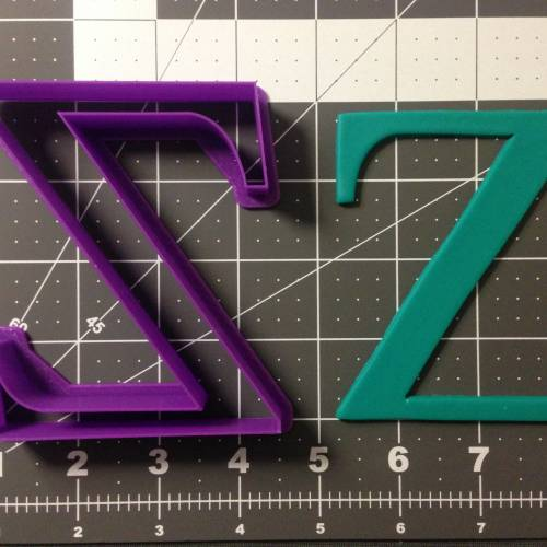 Greek Letter Zeta Cookie Cutter