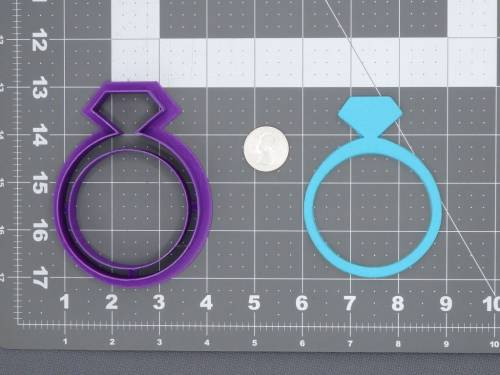 Diamond Ring 266-C966 Cookie Cutter Silhouette
