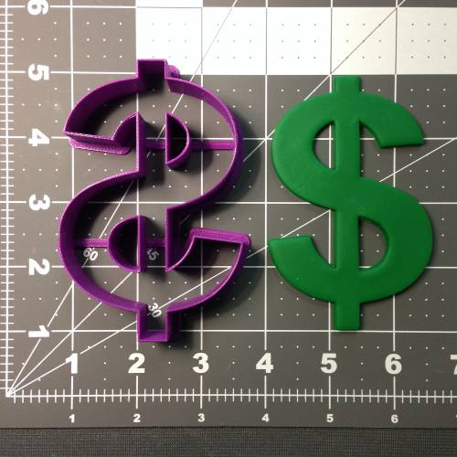 Dollar Sign Cookie Cutter