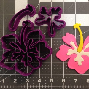 Hibiscus Flower Cookie Cutter Set