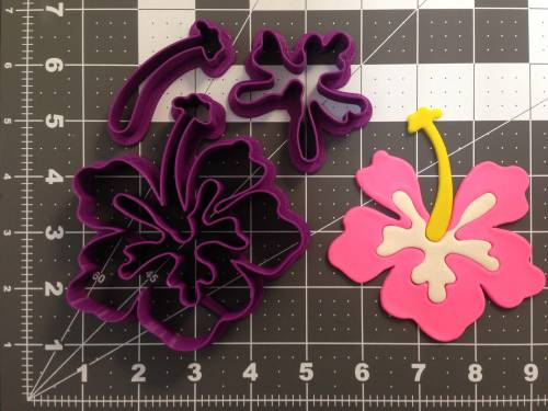 Hibiscus Flower 266-A687 Cookie Cutter Set (4 inch)