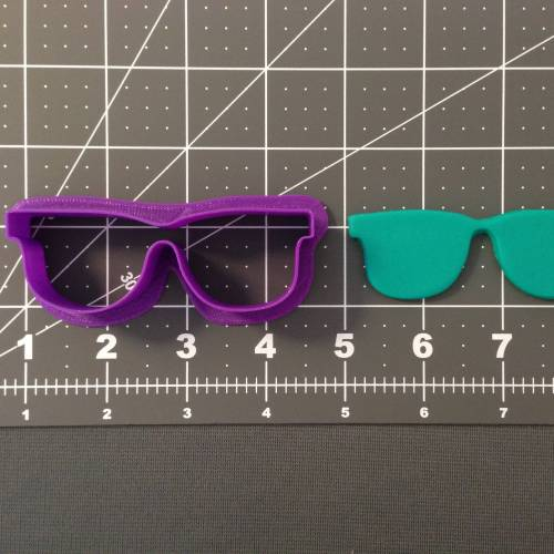 Glasses Silhouette 266-A786 Cookie Cutter