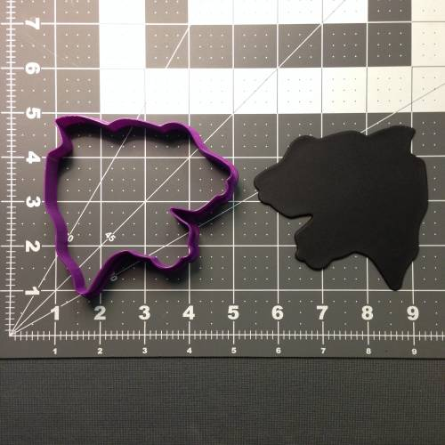 Panther Head 101 Cookie Cutter