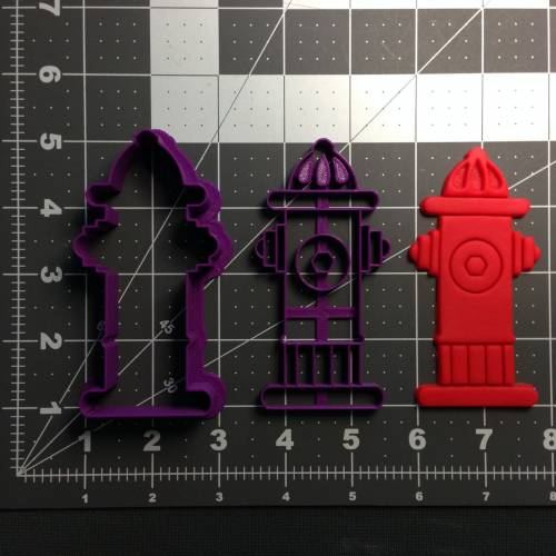 Fire Hydrant Cookie Cutter and Stamp