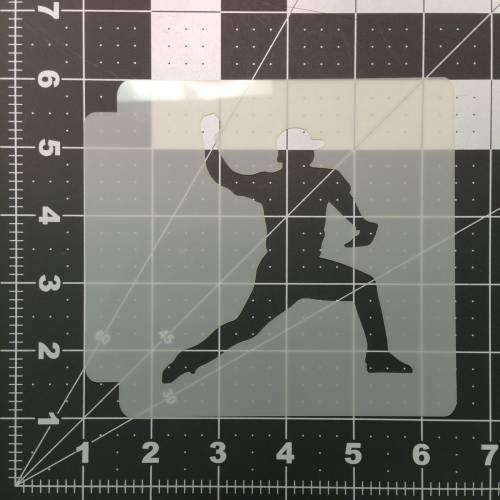 Baseball 103 Stencil