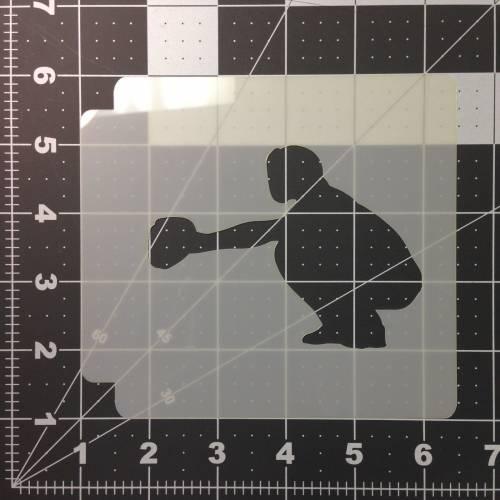 Baseball 107 Stencil