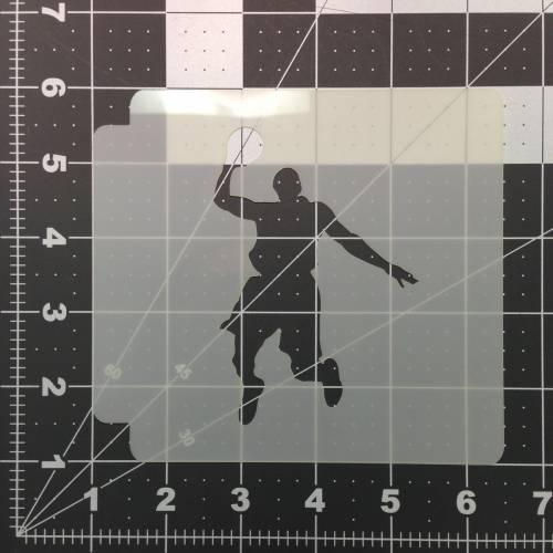 Basketball 100 Stencil