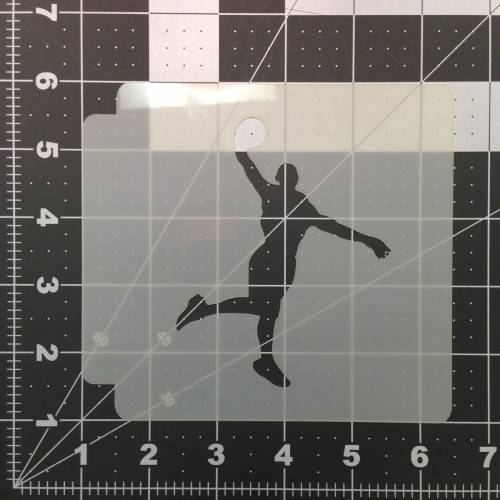 Basketball 102 Stencil