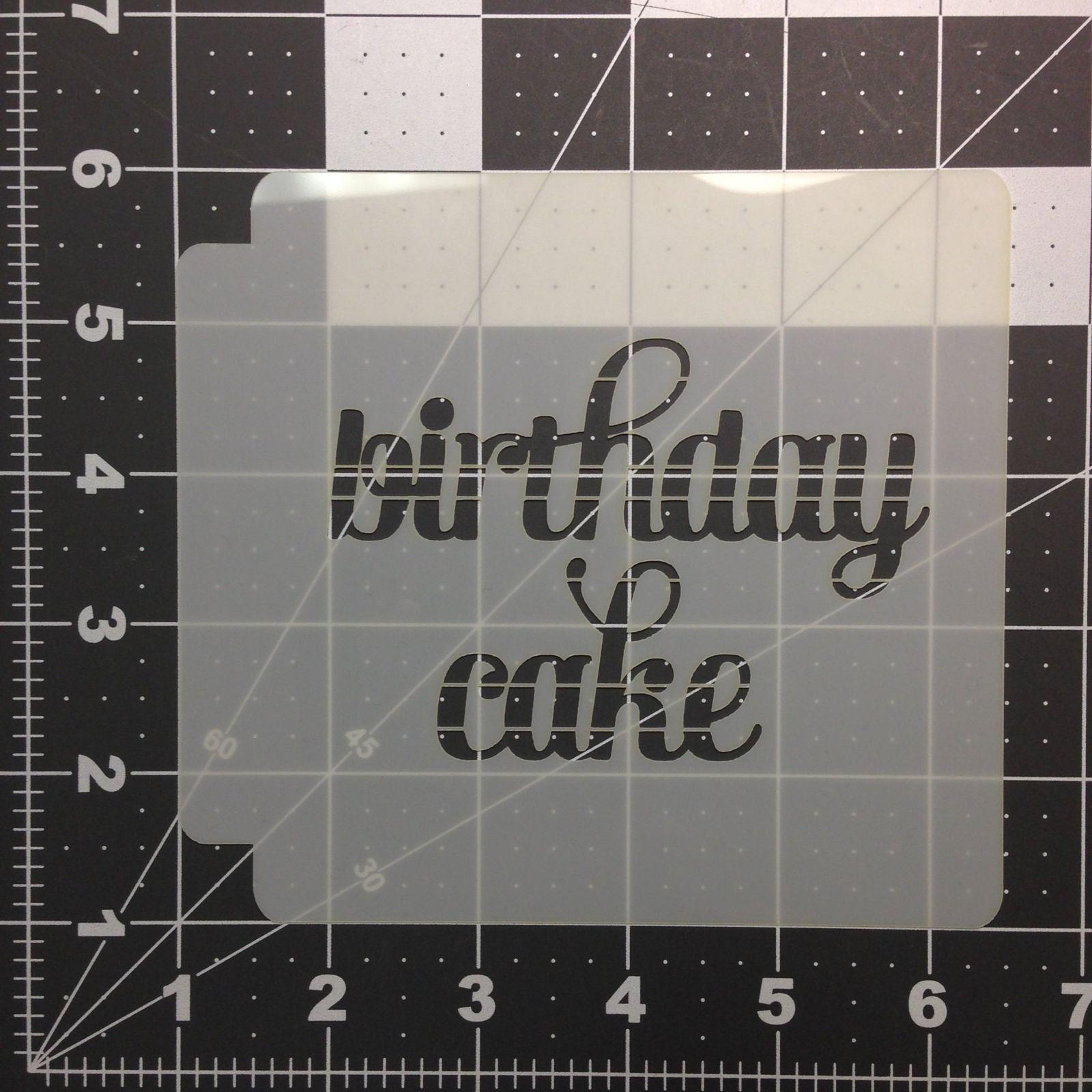 Happy Birthday 783-B273 Stencil