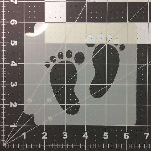 Foot Prints Stencil 101