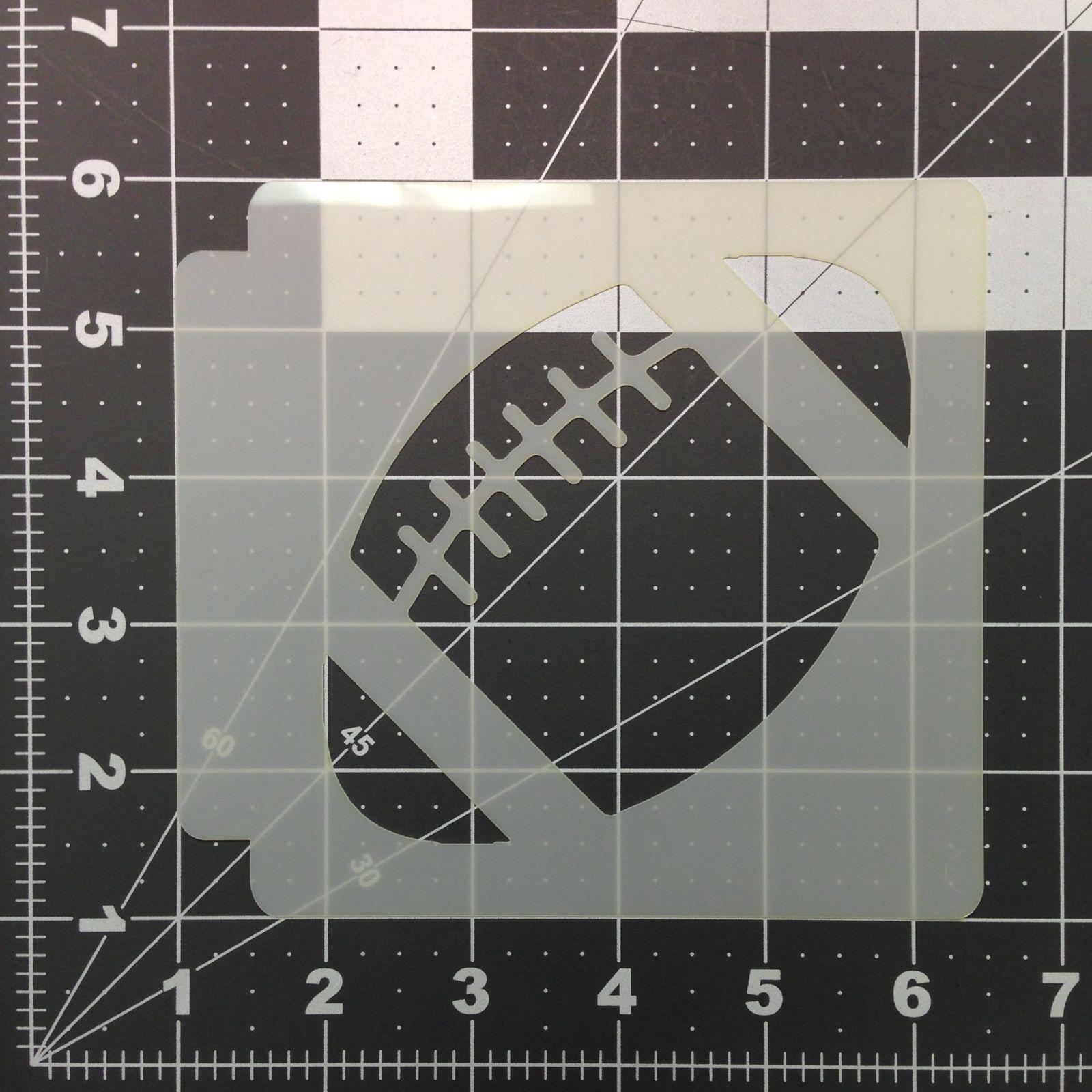 football cookie cutter template - football stencil 100 kato baking supplies