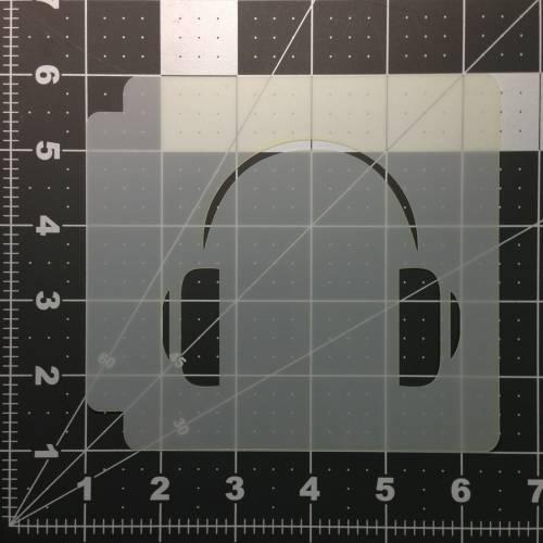 Head Phones Stencil 100