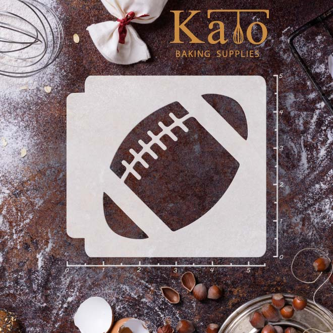 Football 783 a062 stencil kato baking supplies for Football cookie cutter template