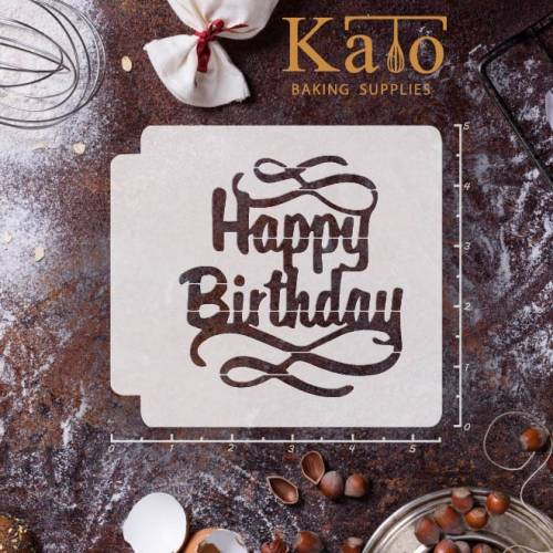 Happy Birthday 783-068 Stencil (4 inch)
