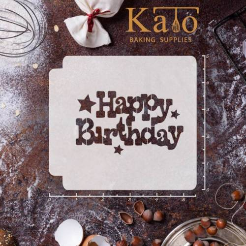 Happy Birthday 783-B273 Stencil (4 inch)