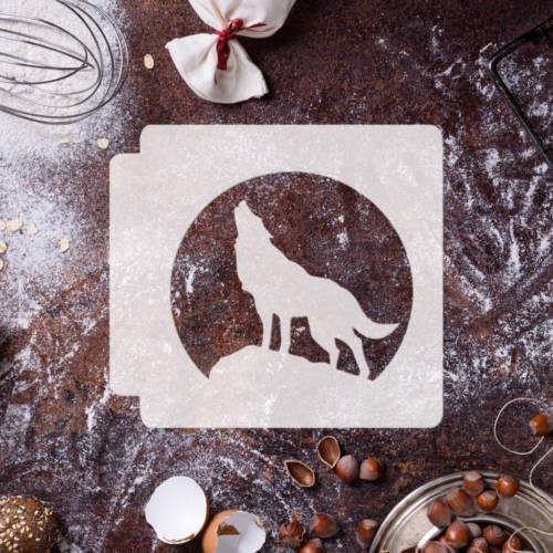 Wolf Body Howling in Moonlight 783-B325 Stencil