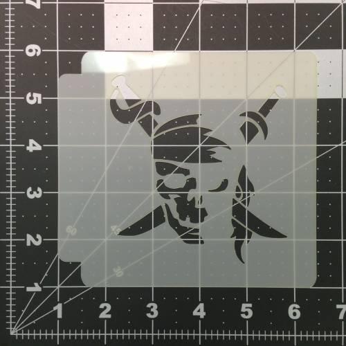 Pirate Skull Stencil 100