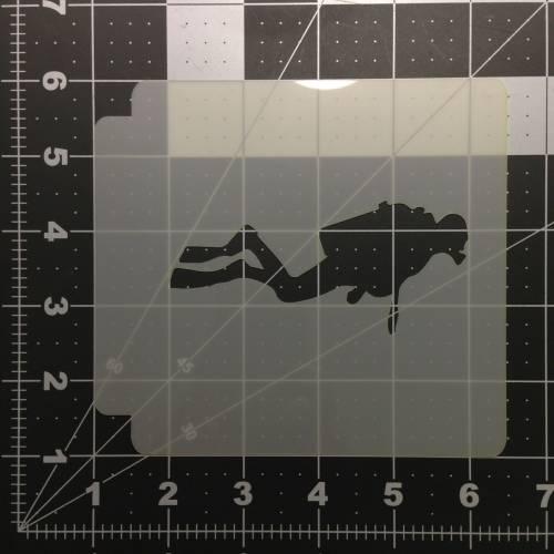 Scuba Diver Stencil 100