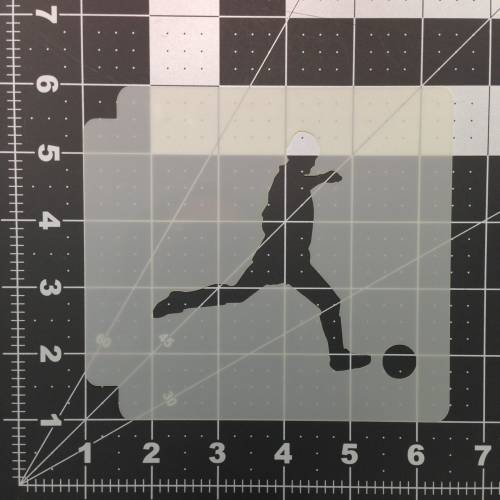 Soccer Stencil 104