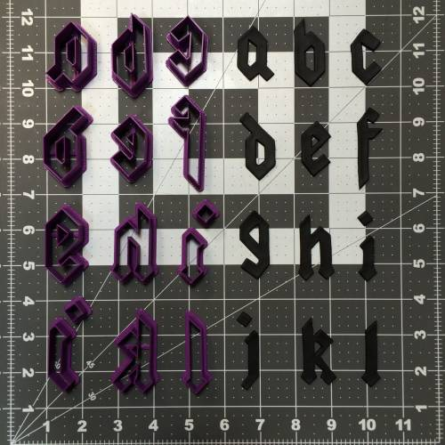 Gothic Font Lowercase Cookie Cutter Set (1)