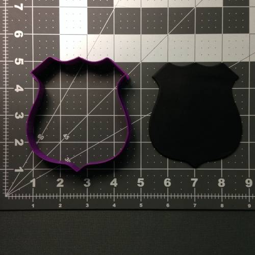 Police Badge 100 Cookie Cutter