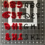 Walt Font Uppercase Cookie Cutter Set