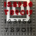 Walt Font Number Cookie Cutter Set