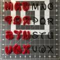 Walt Font Uppercase Cookie Cutter Set (2)