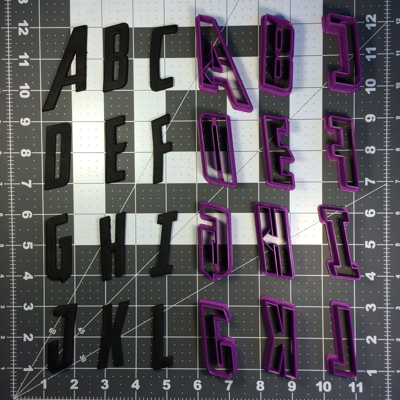 Avengeance Font Uppercase Cookie Cutters