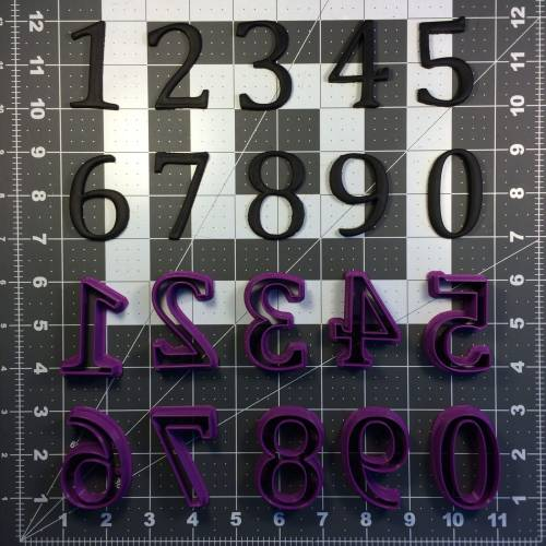 Cambria Font Number Cookie Cutter Set