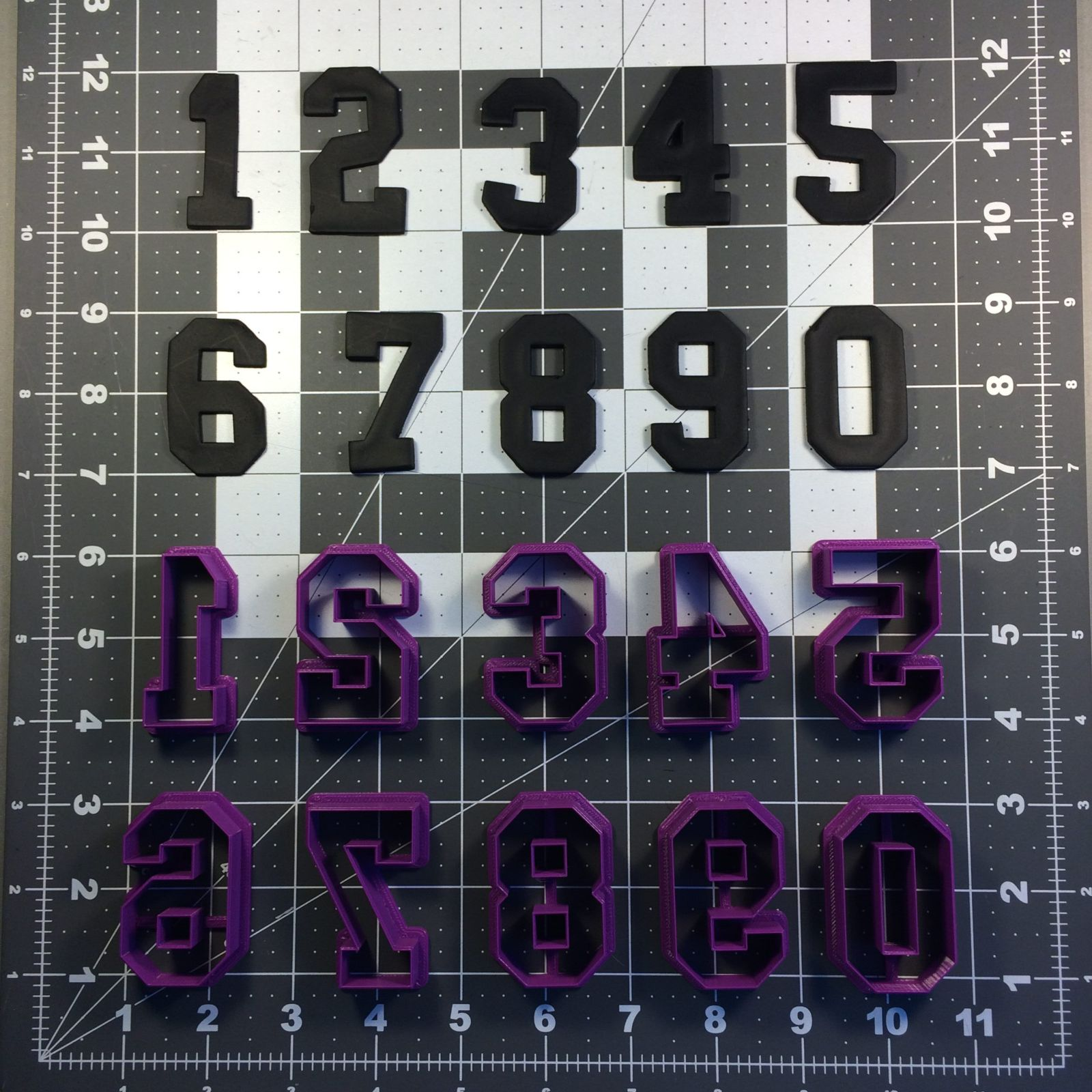 College Font Number Cookie Cutter Set