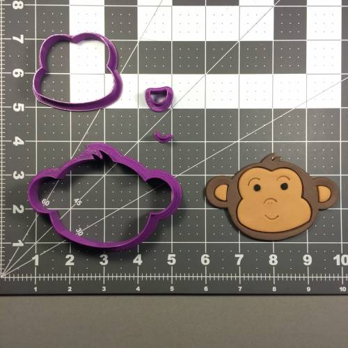 Baby Monkey Face Cookie Cutter Set