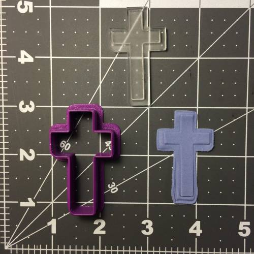 Cross 100 Cookie Cutter and Stamp (embossed 1)