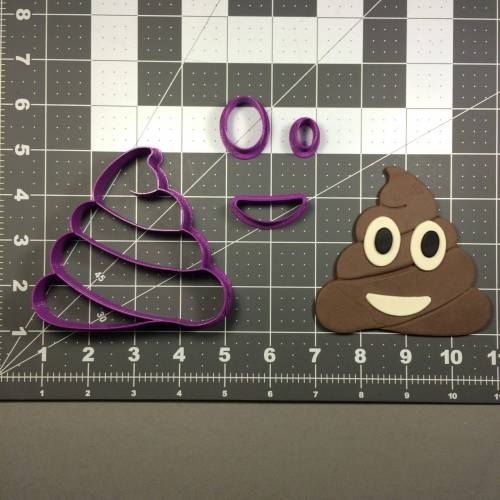 Emoji Poop Cookie Cutter Set