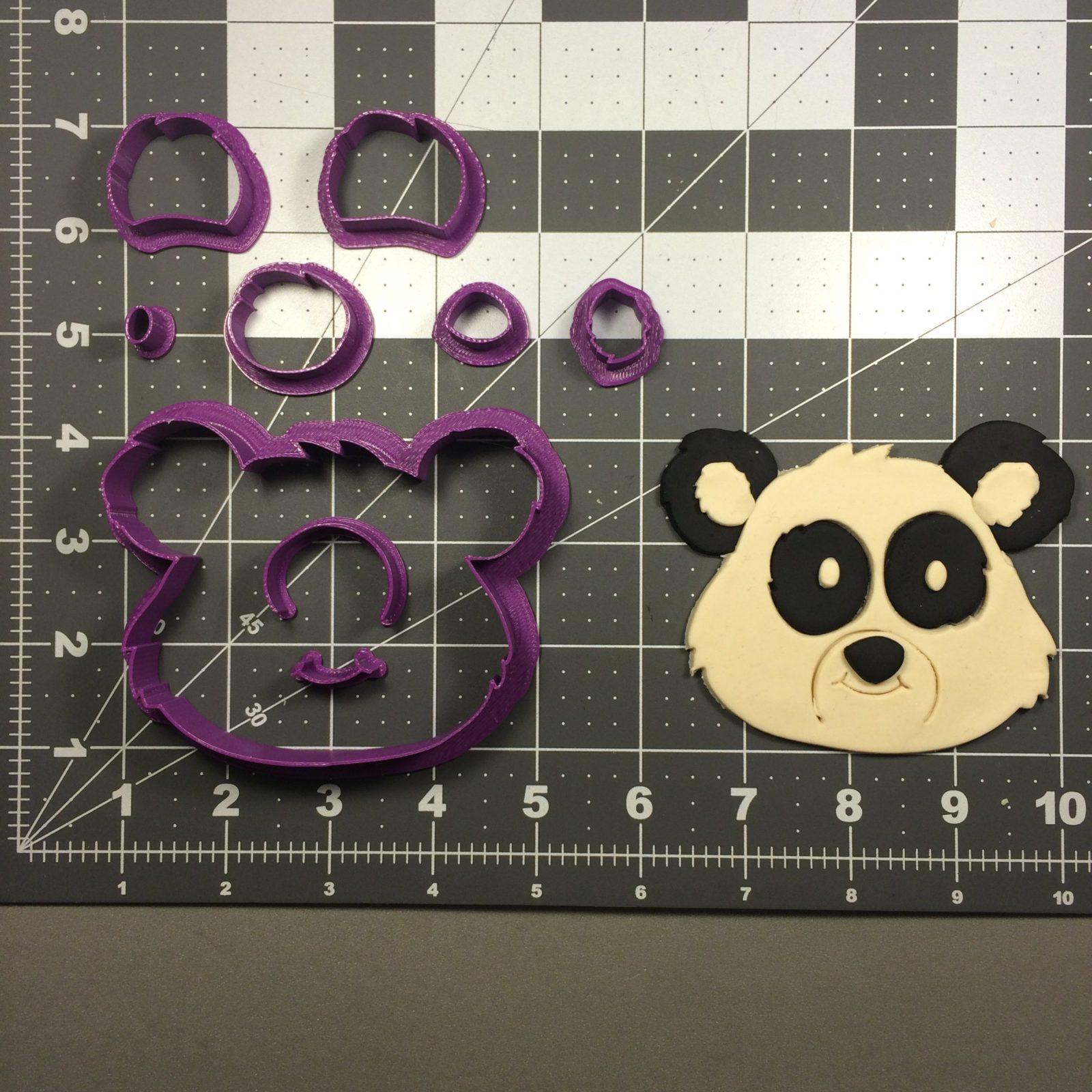 NEW Panda Cookie Cutter 4 pc Set