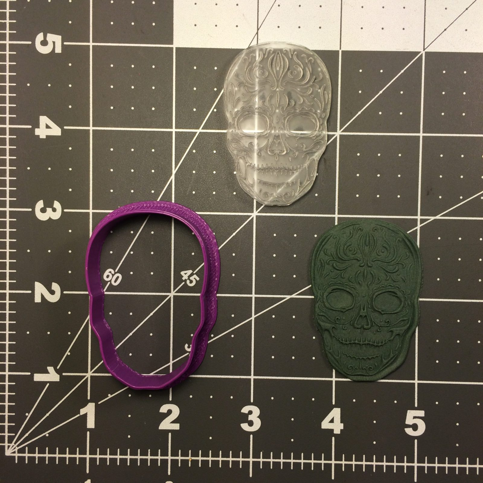 Skull 104 Cookie Cutter and Stamp (embossed 1)