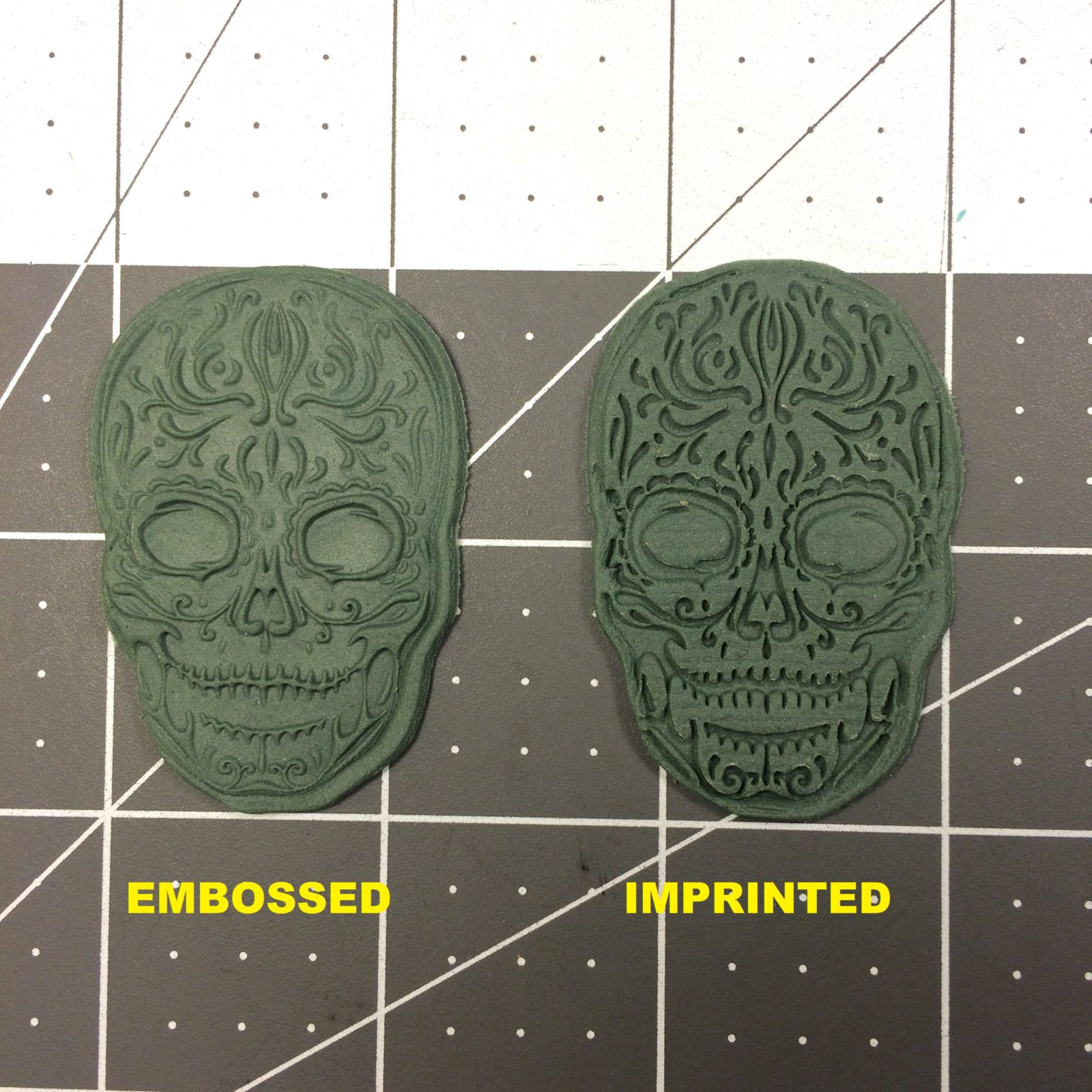 Skull 104 Cookie Cutter And Stamp Written
