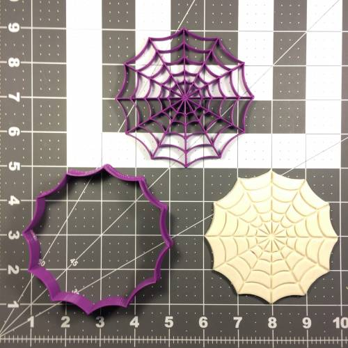 Spider Web Cookie Cutter and Stamp