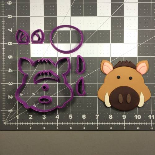 Warthog Face Cookie Cutter Set