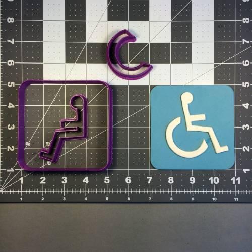 Wheelchair Sign 100 Cookie Cutter Set