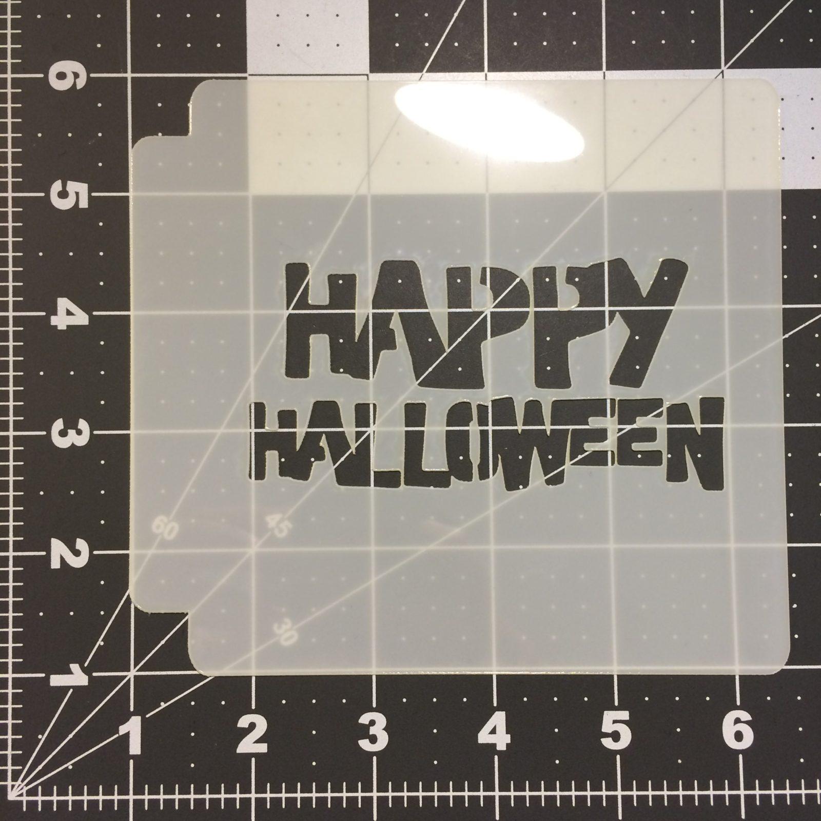 happy halloween stencil 101