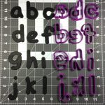 Jello Font Lowercase Cookie Cutter Set